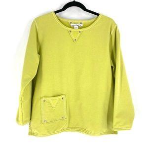 Neon Buddha pocket yoga sweatshirt S